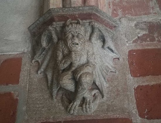 Malbork Castle Museum Devil Tells You The Way To Toilet Medieval