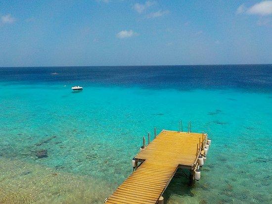 The dock at Carib Inn provides easy entry.