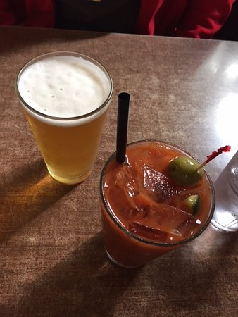 Alma, CO: Bloody Mary and beer