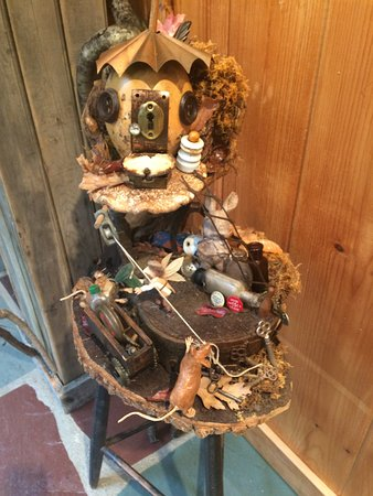Shushan, NY: A Fairy House on display at the Georgi Museum