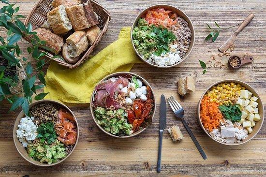 L'Atelier Saisonnier - Paris 9e: Les meilleures salades de Paris pour vous à l'atelier saisonnier ! Produits frais uniquement