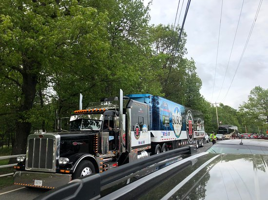 Pocono Raceway: we saw all the SHR haulers on our way out of the track