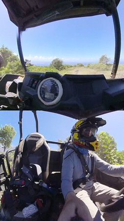 Maui Off Road Adventures: Split view from 360 cam
