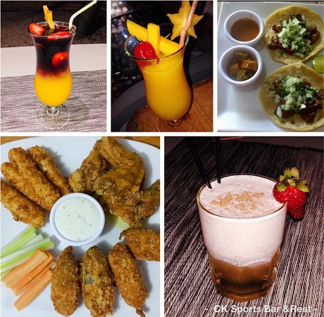 drink specials and finger food