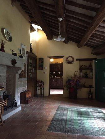 Castello Della Pieve: Saletta parti comuni camere