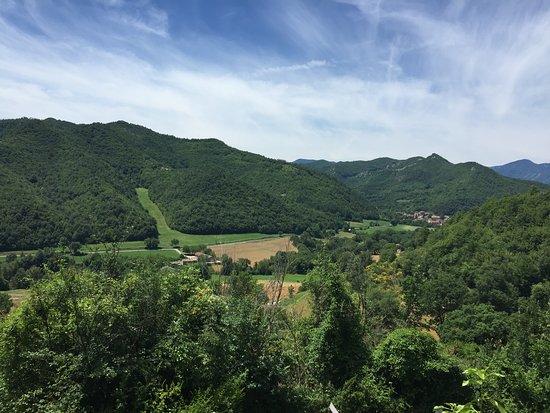 Mercatello sul Metauro, Italie : Panorama dal ristorante