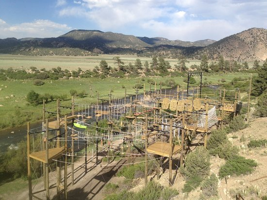 Buena Vista, CO: Featuring 66 elements including: 7 ziplines, vertical limit climbing, and a big drop swing!