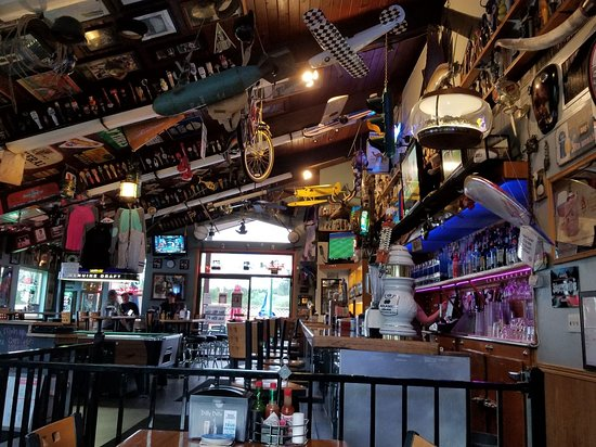 Nisqually Bar and Grill: A ceiling of memories...