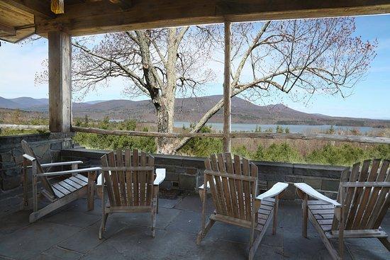 West Shokan, NY: The Pavillion at Ashokan Dreams. View of the Ashokan Reservoir