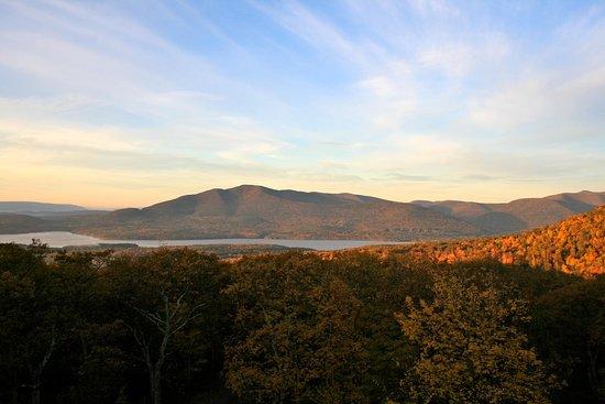 Ashokan Dreams B&B : View of High Point Mountain and Ashokan Dreams across the Ashokan Reservoir