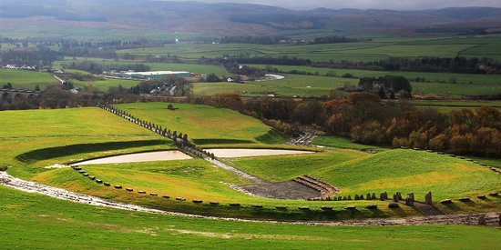 Sanquhar, UK: Looking out over the great north-south avenue and the gentle slopes of Upper Nithsdale