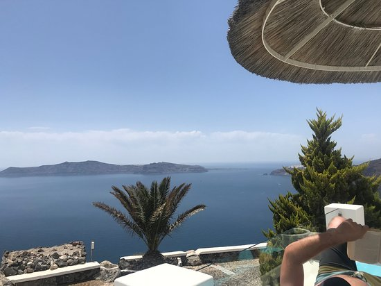 Santorini Princess: View from the pool