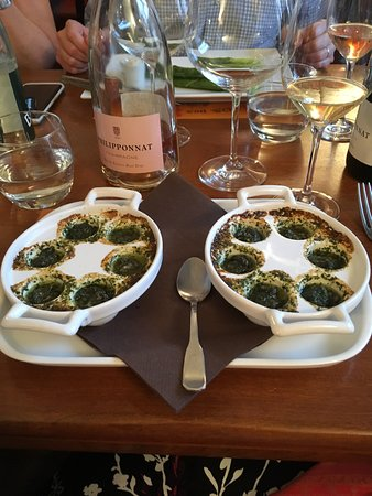 Ma Cuisine: one order of escargots!