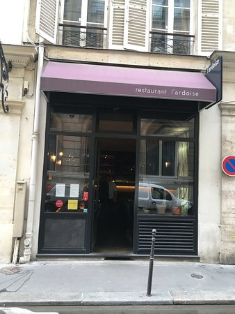 L'Ardoise: view from across the street
