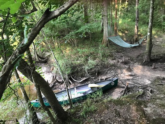 Canadys, Carolina del Sur: Canoe and hammock
