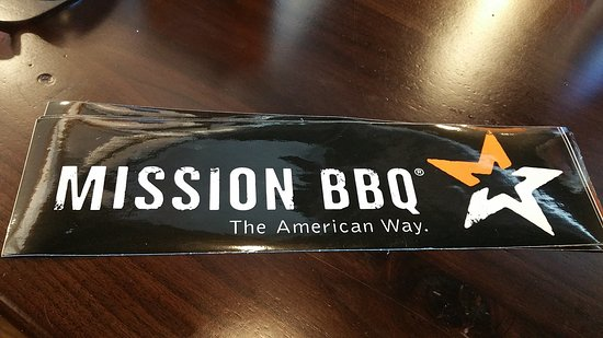 Mission BBQ: Bumper Stickers for a Guitar Case.. Thanks you..