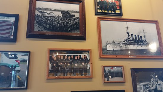 Mission BBQ: Pictures all donated by the different departments and services. Proud to see the Navy represente