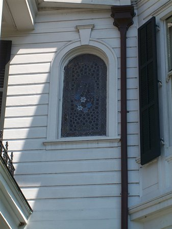 New Orleans Garden District Walking Tour Including Lafayette Cemetery No. 1: More Tiffany stained glass.