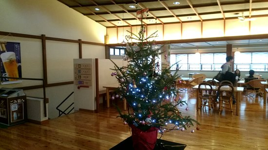 Kusatsu Onsen Otaki no Yu: 休憩所、合わせ湯への階段