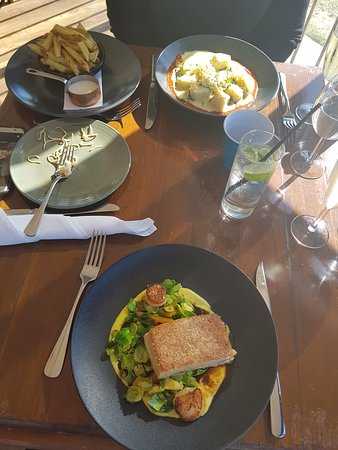 The Boatshed Restaurant: Gnocchi and Pork Belly