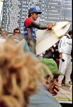 Fistral Beach surf contest
