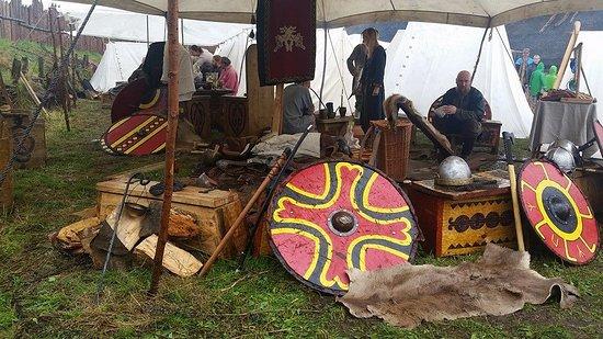 Slavian and Viking centre Vineta: Viking shields