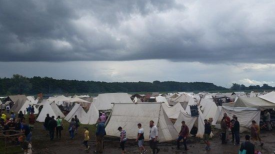 Slavian and Viking centre Vineta: Warrior encampment