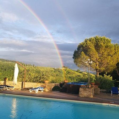 Santa Maria Degli Ancillotti: Overlooking the valley from the pool terrace.