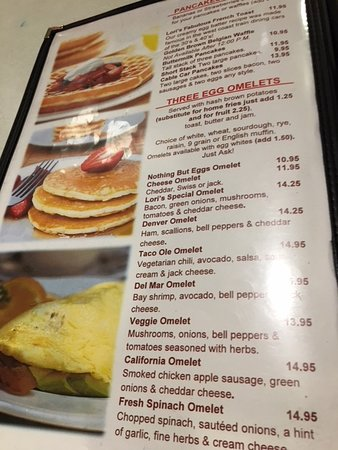 A look at the breakfast menu  - Picture of Lori's Diner, San