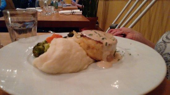 Bistro Rouget: Crab Cake. Almost no filler