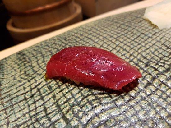 Ginza Sushiichi: Marinated Akami with Shoyu and yuzu