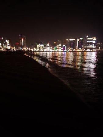 Night life at Gwangalli beach