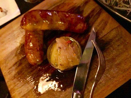 Izakaya Fujiyama: house made sausages with pickled eggplant