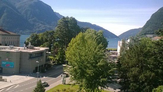 Hotel Pestalozzi Lugano: view from the balcony