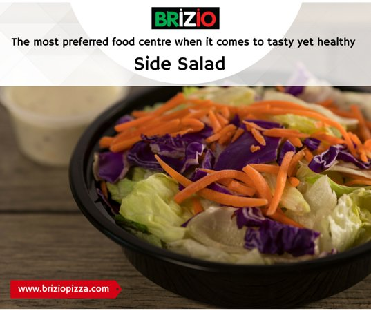 Brizio's Pizza: We create and serve side salad add to our at brizio pizza! Come and enjoy at Briziopizza. Visit
