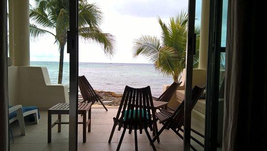 Vista de La playa de Paamul desde la habitación
