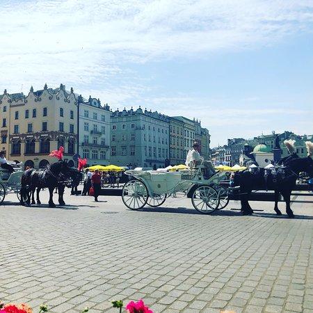 Krakow's Rynek Glowny Central Square – fénykép