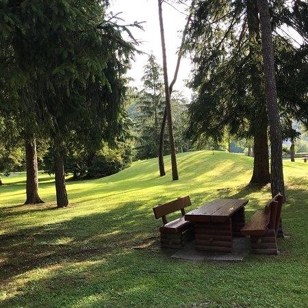 Parco delle Terme di Comano: Il parco termale al mattino......