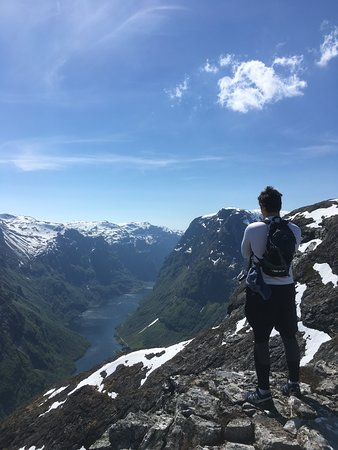 Nordic Ventures: The top of the Nærøyfjord, feels like the top of the world!