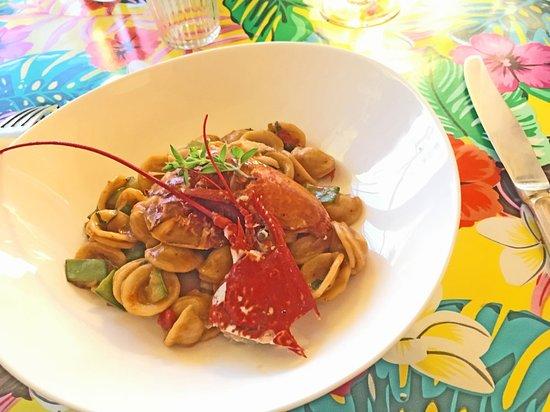 Lupiac, France: Lobster pasta