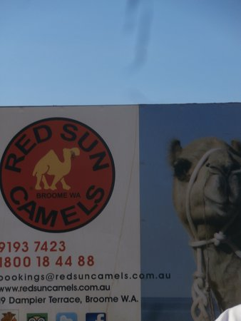 Red Sun Camels: Welcome sign.