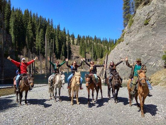 Kolsai Tour: Horseback riding trip to Kaindy Lake with private guide in Kazakhstan www.kolsaitour.com