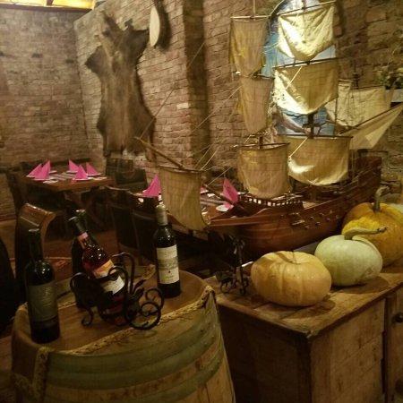 Ferizaj, Kosovo: the Interior of the Restaurant