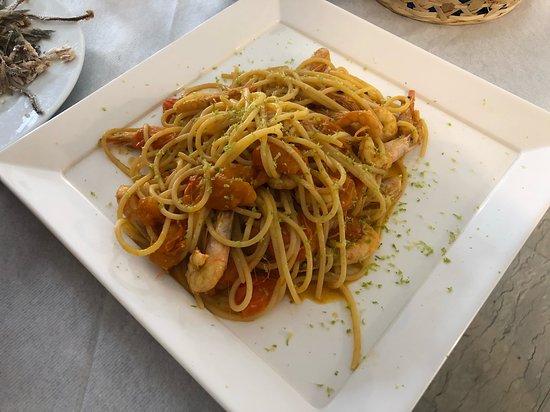 La Cambusa del Pescatore: Spaghetti gamberi vongole e lime