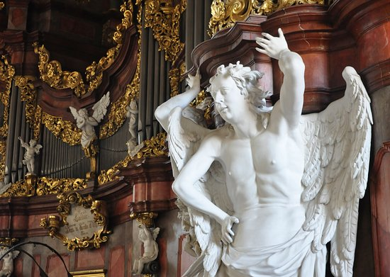Organy Michaela Englera w krzeszowskiej bazylice.