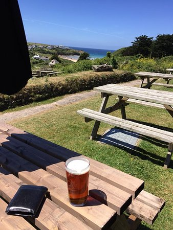 Porthcothan, UK: Beat this view if you can?