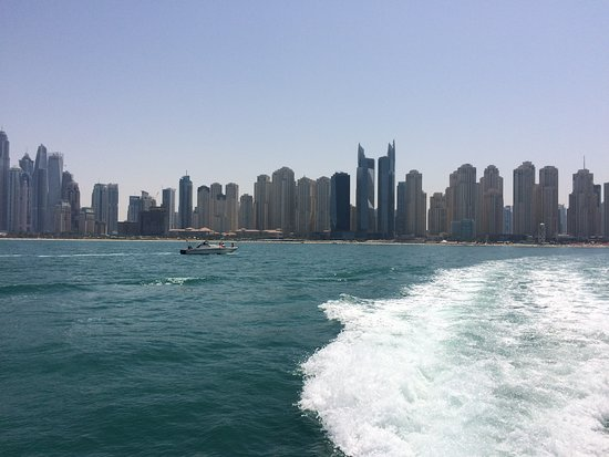 Dubai Ferry: JBR skyline