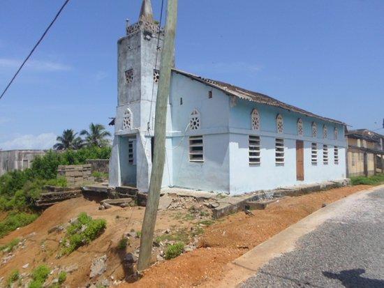 Beyin, Ghana: An old church at Benyin