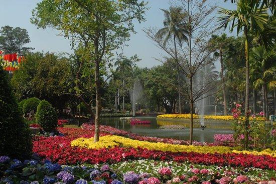 Buak Hard Public Park Flower Gardens In