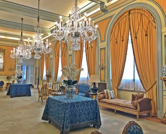 Hotel Avenida Palace: Salon and lounging area of the Avenida Palace Hotel, Lisbon, Portugal by Jeremiah Christopher